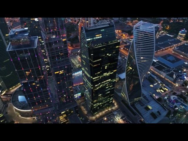 4К Москва Сити Moscow City с квадрокоптера