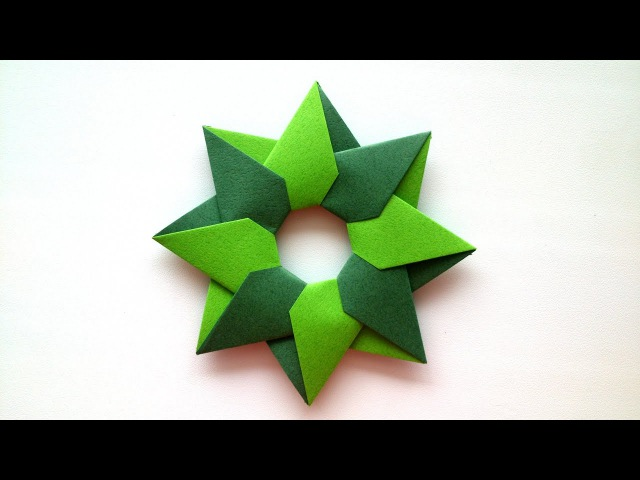 Robin Star of 8 details by Maria Sinayskaya - Origami Tutorial.
