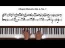 Chopin Mazurka Op. 6, No. 1 Piano Tutorial