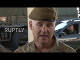 Румыния Час пик на пограничном переходе Джурджу, когда британские войска прибывают на тренировки НАТО.