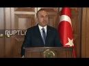 Турция Чавушоглу предупреждает США о вооружении Курдских ополченцев.