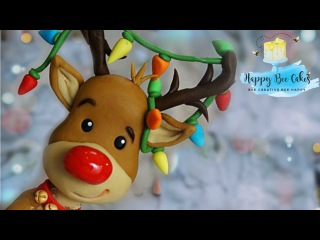 How to make Rudolph the red nosed Reindeer! Christmas cake topper