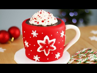 ( https://vk.com/lakomkavk) 3-Д Торт. Мастер-класс. Hot Chocolate CAKE with Marshmallows