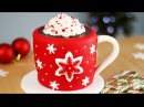 Hot Chocolate CAKE with Marshmallows INSIDE Christmas CAKES!