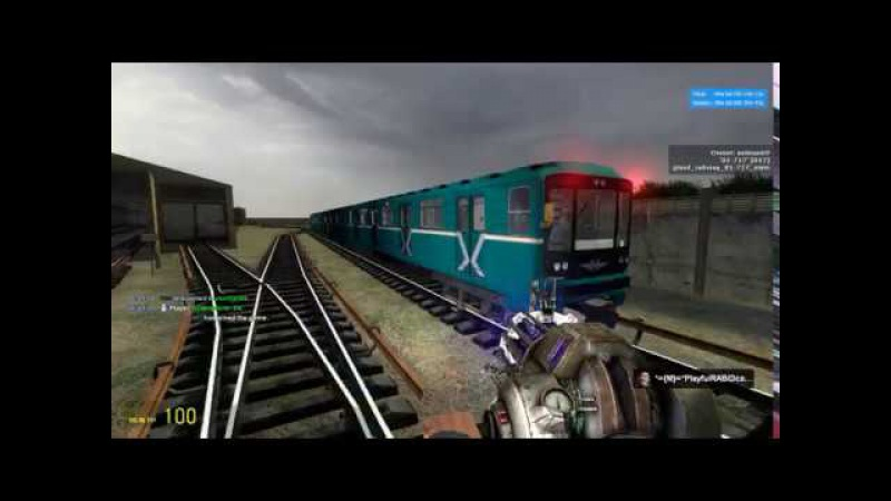 G.Mod - Metrostroi: Видео ни о чём!: Кому-то было делать нехер Чувак, невольно спас от суи...