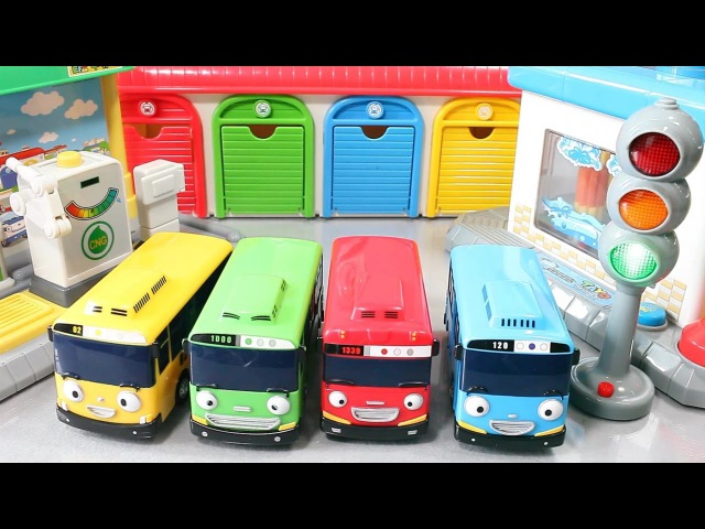 타요 꼬마버스 타요 주유소 차고지 세차장 장난감 Tayo the Little Bus Toys мультфильмы про машинки Игрушки
