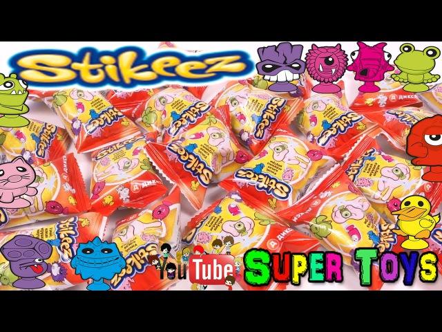 Stikeez toys unboxing surprises toy surprises Kinder SurpriseСтикиз рапаковка сюрпризов игрушек