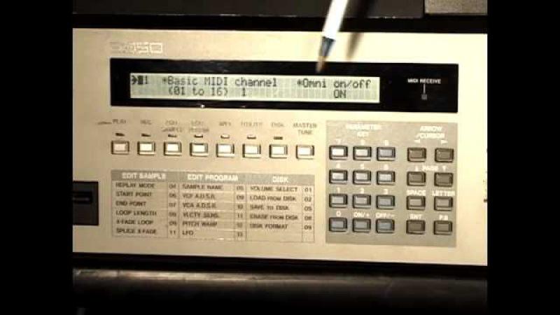 AKAI S950 MIDI Setup for the E-MU SP1200