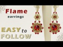 How to make beautiful earrings using 14 mm rivolis and bicones