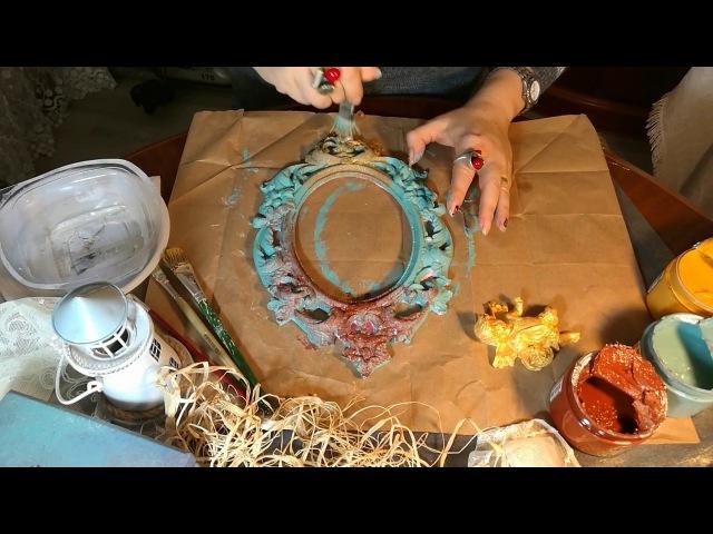 Rusty patina | Küflü eskitme | Kokulu taş eskitme boyama