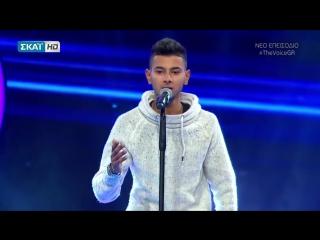 Цыганский парень прекрасно спел на телешоу Голос в Греции