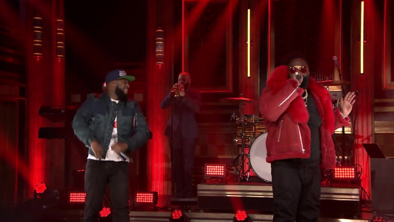 Talib Kweli, Rick Ross Yummy Bingham - Heads Up Eyes Open @ Live on The Tonight Show Starring Jimmy Fallon