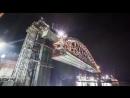 видео установки ж/д арки моста в Крым