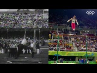 Спортивная гимнастика с разницей в 104 года