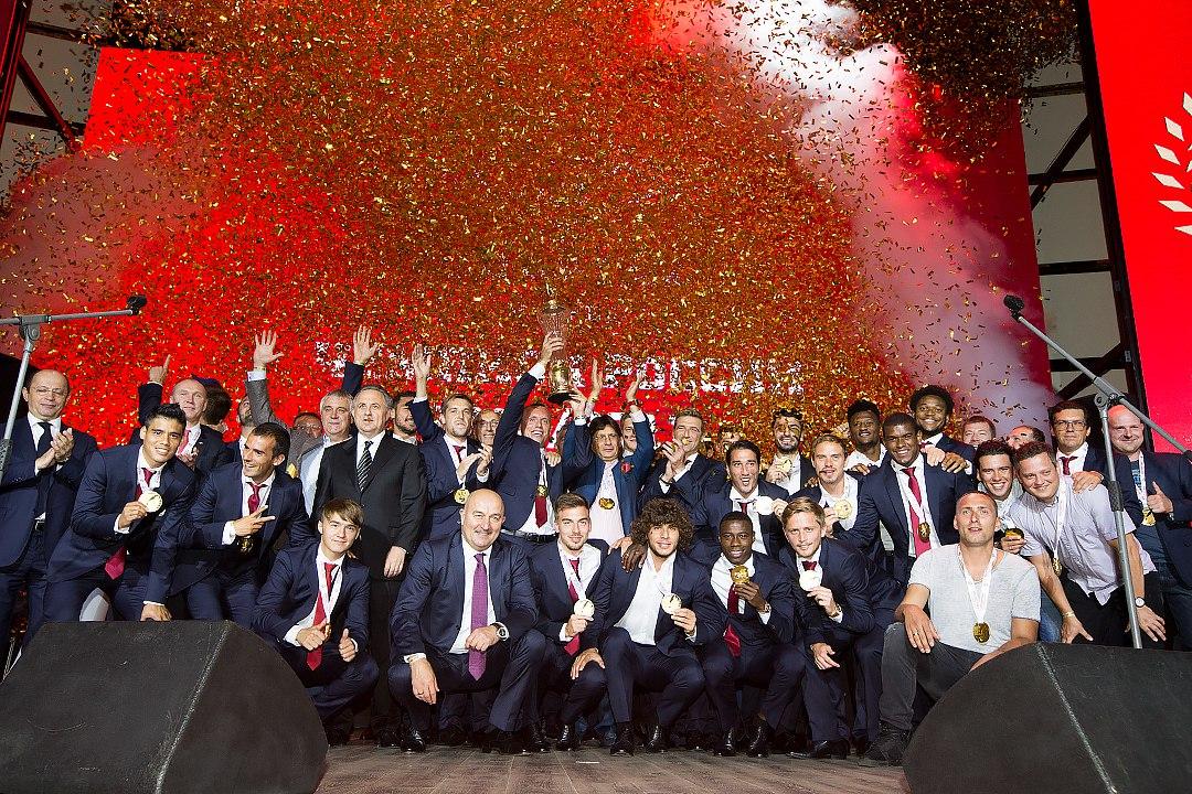 Игроки «Спартака» награждены золотыми медалями чемпионата-2016/2017 (Видео)