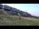 Mahua Express Train of Bangladesh Railway at Passing Tongi