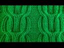 Узор косичка из лицевых и изнаночных петель Видео урок вязание на спицах Ponytail pat