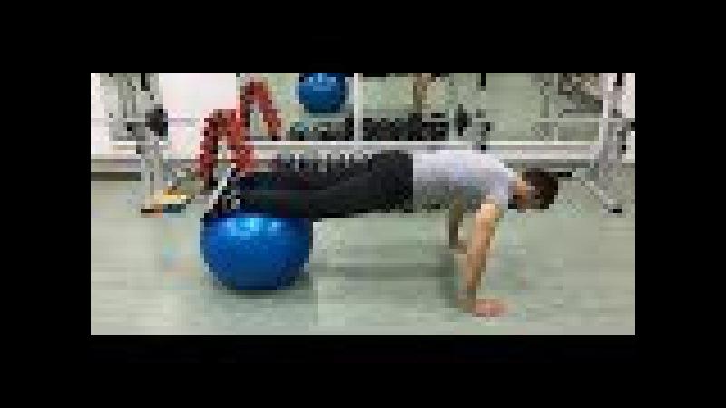 Упражнения на фитболе Занятие на фитболе развиваем баланс координацию равно