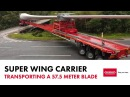 Nooteboom Super Wing Carrier Transporting a 57 5 blade by McFadyens