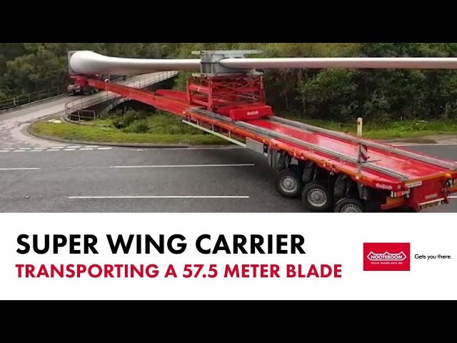 Nooteboom Super Wing Carrier - Transporting a 57.5 blade - by McFadyens