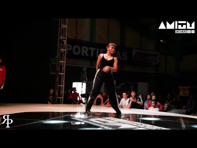 Ilwaack vs Suzan Funk Style Top32 Eat D Beat AMITY 2017 Bandung Indonesia