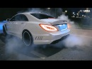 Mercedes CLS63 vs Lexus IS F drift battle Moscow
