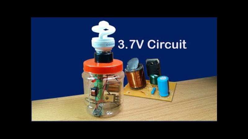 How to make easy 3.7V fluorescent lamp circuit in cans at home