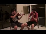 Outside, Calvin Harris ft. Ellie Goulding, two violin cover