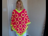 How to Crochet a Granny Square Poncho Part 2