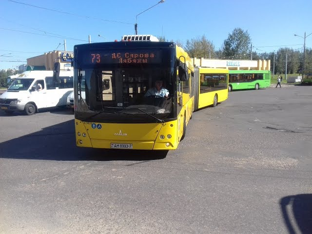 Поездка на автобусе МАЗ-215,гос.№ АН 8993-7