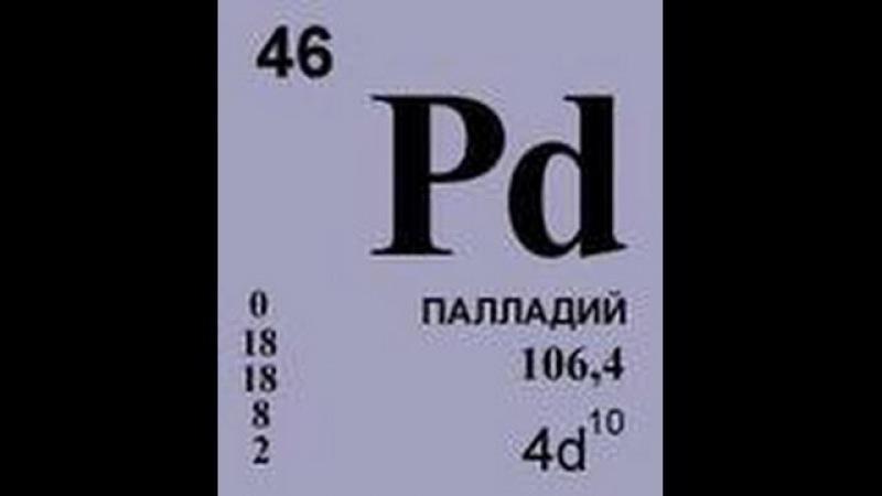 Извлечение палладия уксусным реагентом/Palladium extraction by acetic reagent