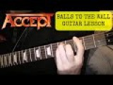 Balls To The Wall - Accept (U.D.O) - Guitar lesson - Chorus (EASY)