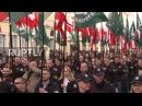 Poland: Antifa counter-demo disrupts nationalist march through Warsaw - YouTube