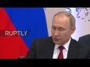 Россия Канцлер Австрии восхищается мужеством Путин на Международном Экономическом Форуме.