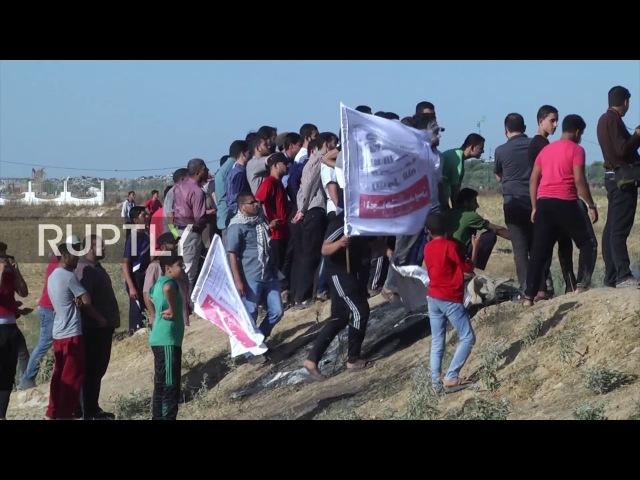 Государство Палестина: Протестующие ранены в столкновениях в северной части Газы.