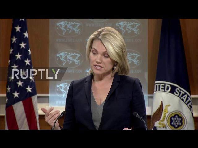 США: Нойерт проводит первый пресс-брифинг в качестве Пресс-Секретаря Государственный Департамент.