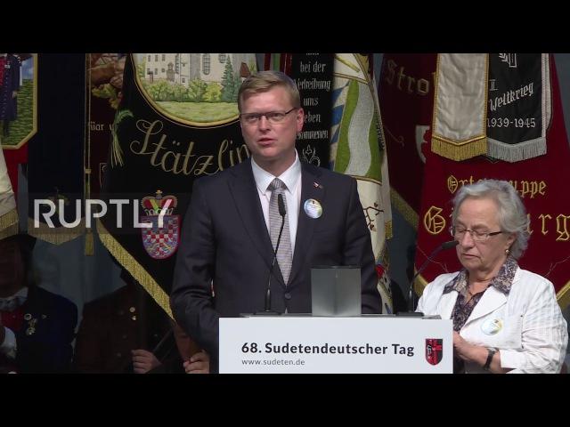 Германия: Заместитель Премьер-Министр Чехии призывает Судетский Германский митинг искать «единство в разнообразии».