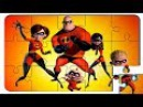 Puzzle Video For Kids The Incredibles. Puzzle cartoon with colored cars.