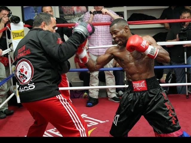 RIGO TRAINING AT MAYWEATHER GYM FOR UNDERCARD BOUT AT WARD KOVALEV