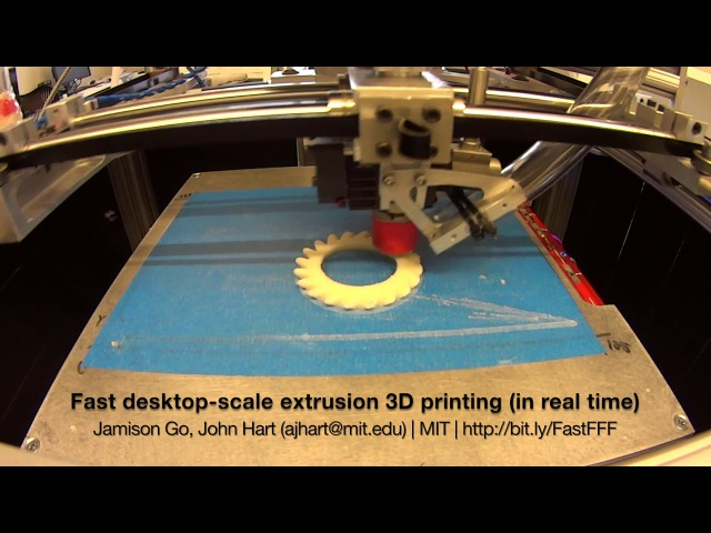 Fast desktop-scale extrusion 3D printing