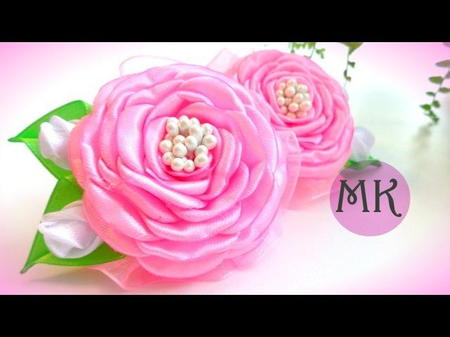 Бантики из лент/ Розы из лент/ Satin ribbon bow/ Laço de fita/ Ola ameS DIY