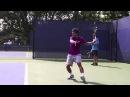 Укороченный удар в замедленном повторе Большой теннис