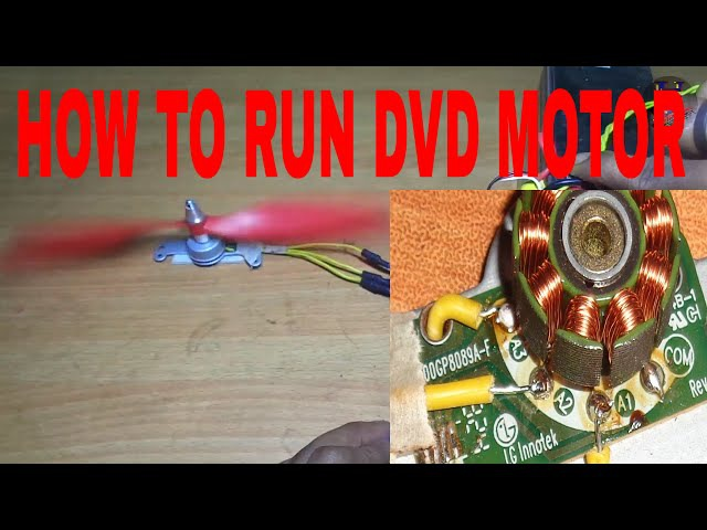 HOW TO RUN DVD MOTOR [BLDC MOTOR] 😀😀😀😀😀😀😀