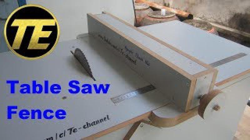 DIY - Make A Table Saw Fence For Homemade Table Saw