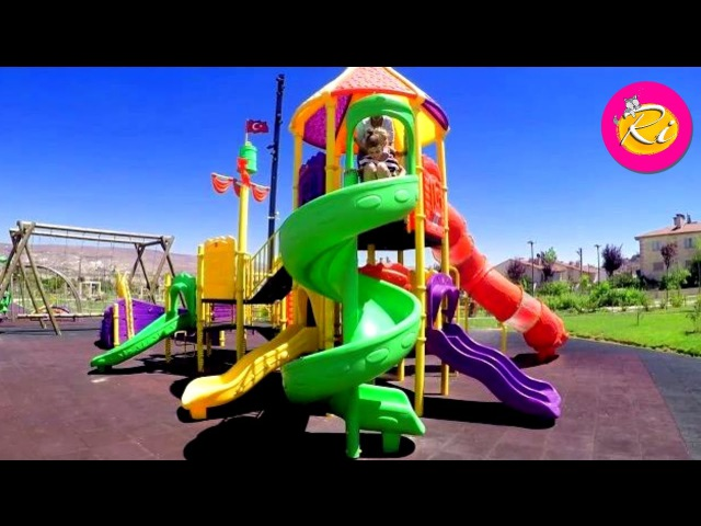 Outdoor Playground for Kids Rihanna Ri Family Fun Kids Song Видео для Детей Travel Vlog from Turkey