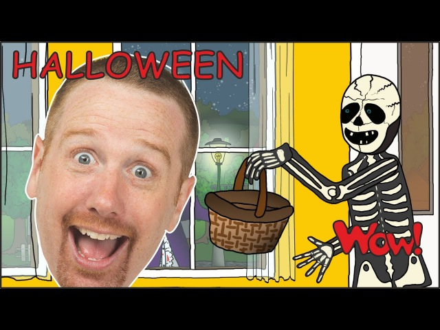 Halloween Trick or Treat Story   Halloween Candy from Steve and Maggie   Wow English TV