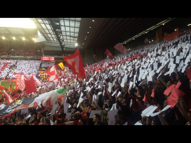 Anfield Sings Amazing Version Of You'll Never Walk Alone vs Villarreal Europa League (May 2016)