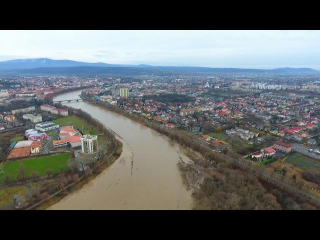 Проходження паводку на р.Уж в Перечинському та Ужгородському районах 13 грудня 201...