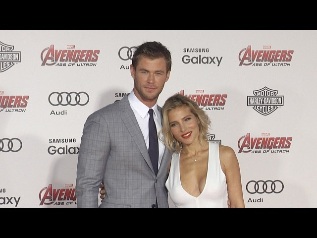Chris Hemsworth and Elsa Pataky Avengers: Age of Ultron World Premiere Red Carpet