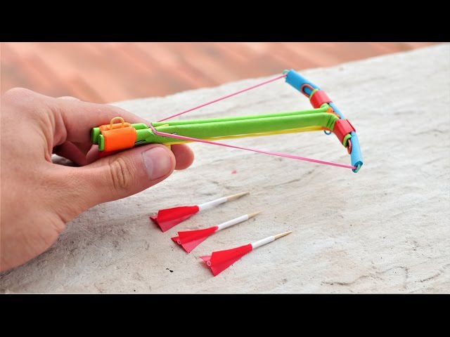 How to Make a Powerful Mini Crossbow from Paper with Trigger